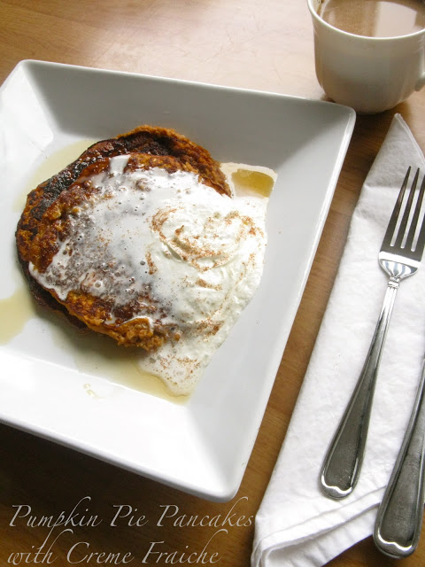 Pumpkin Pie Pancakes with Creme Fraiche - The Best of this ...