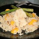 Grilled Haddock with Mango Almond Rice