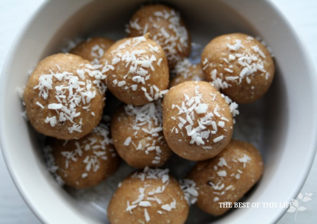 Healthy Peanut Butter Coconut Bites The Best Of This Life