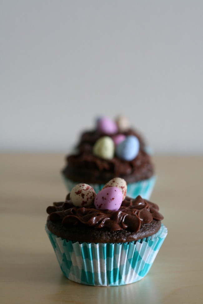 Easter Candy Eggs: Gluten-Free Chocolate Easter Egg Cupcakes