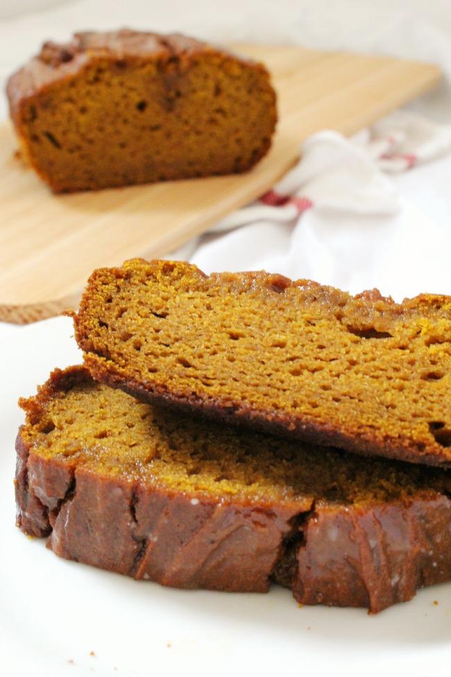 Gluten-Free Glazed Pumpkin Spice Loaf