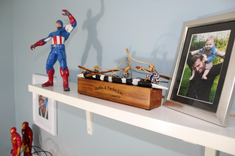 Star Wars Boys Room Makeover Memory Shelf