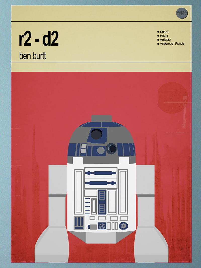 R2 D2 Print from Star Wars room