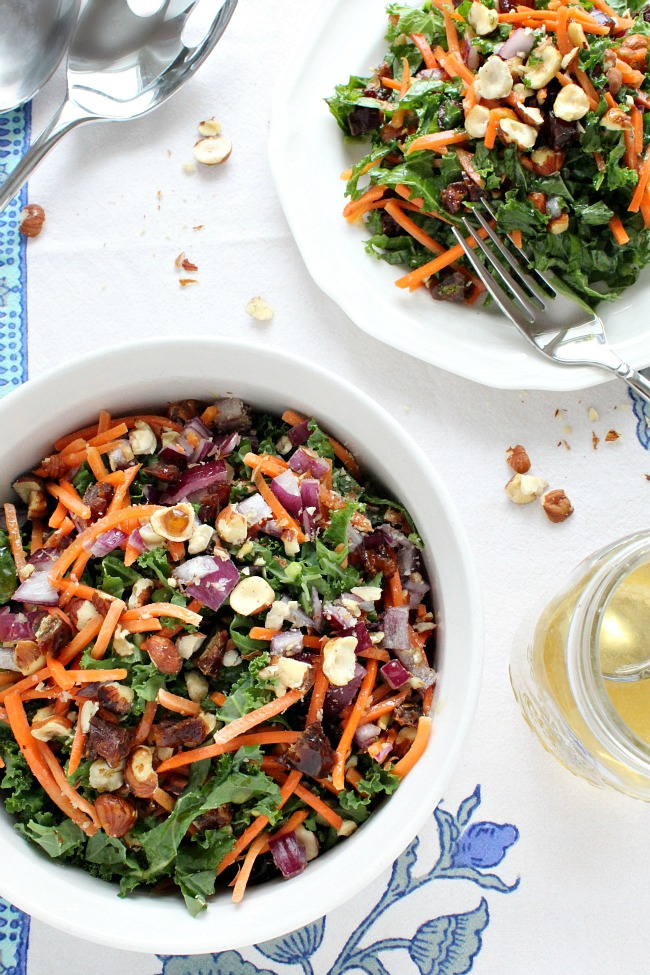 Healthy Winter Kale & Hazelnut Salad