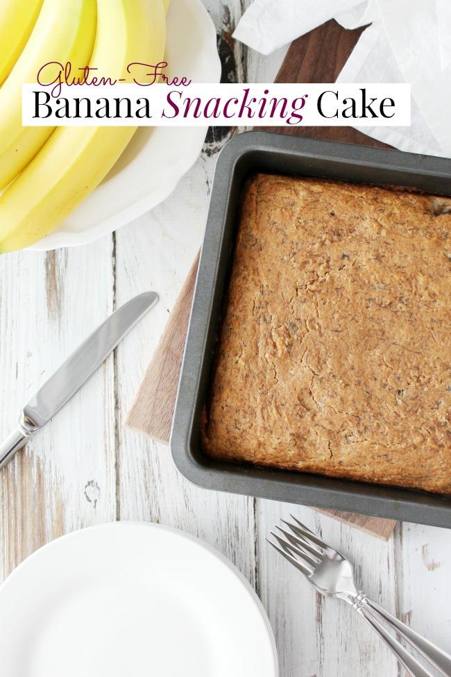 Gluten-Free Banana Snacking Cake www.bestofthislife.com 650x975