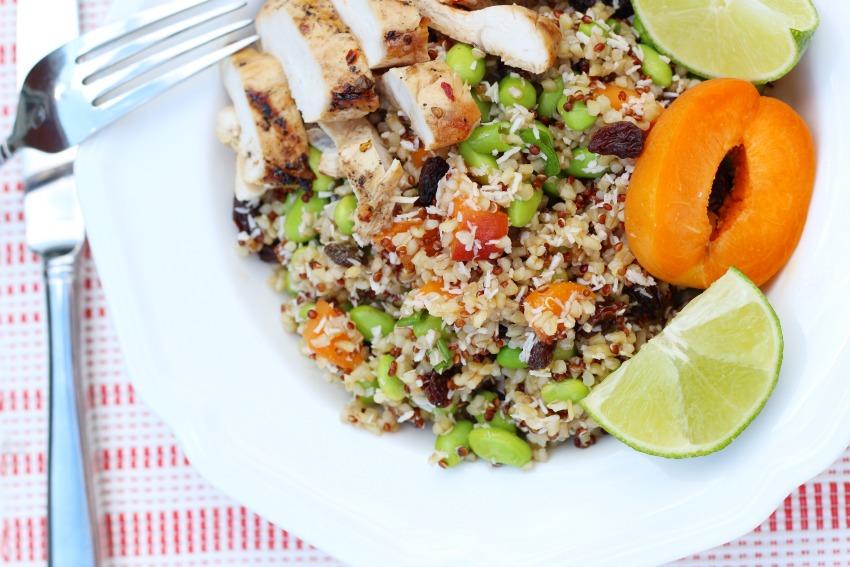Flippin' Good Summer Quinoa Salad & Honey Glazed Chicken