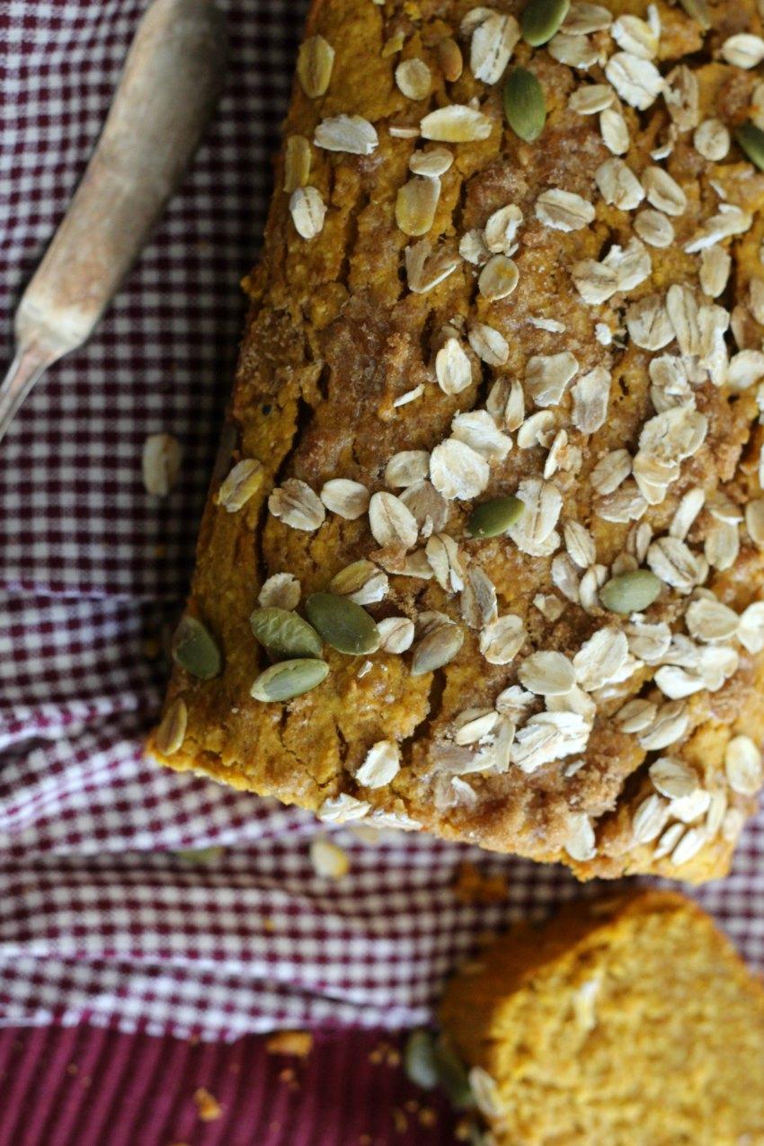 Hearty Gluten-Free Pumpkin Oat Bread For A Cool Autumn Day