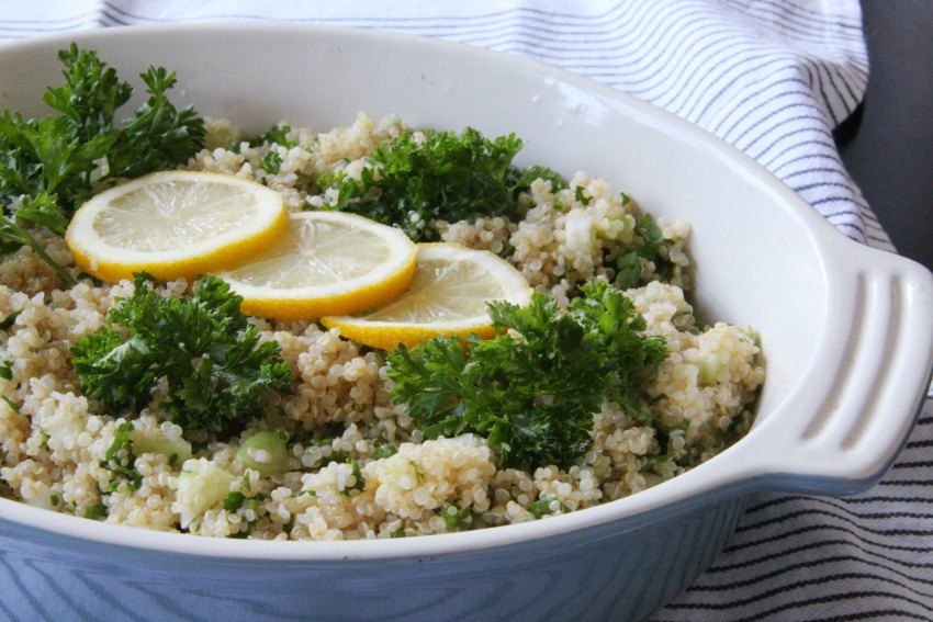A Savoury Quinoa & Parsley Salad You'll Want to Pack For Lunch