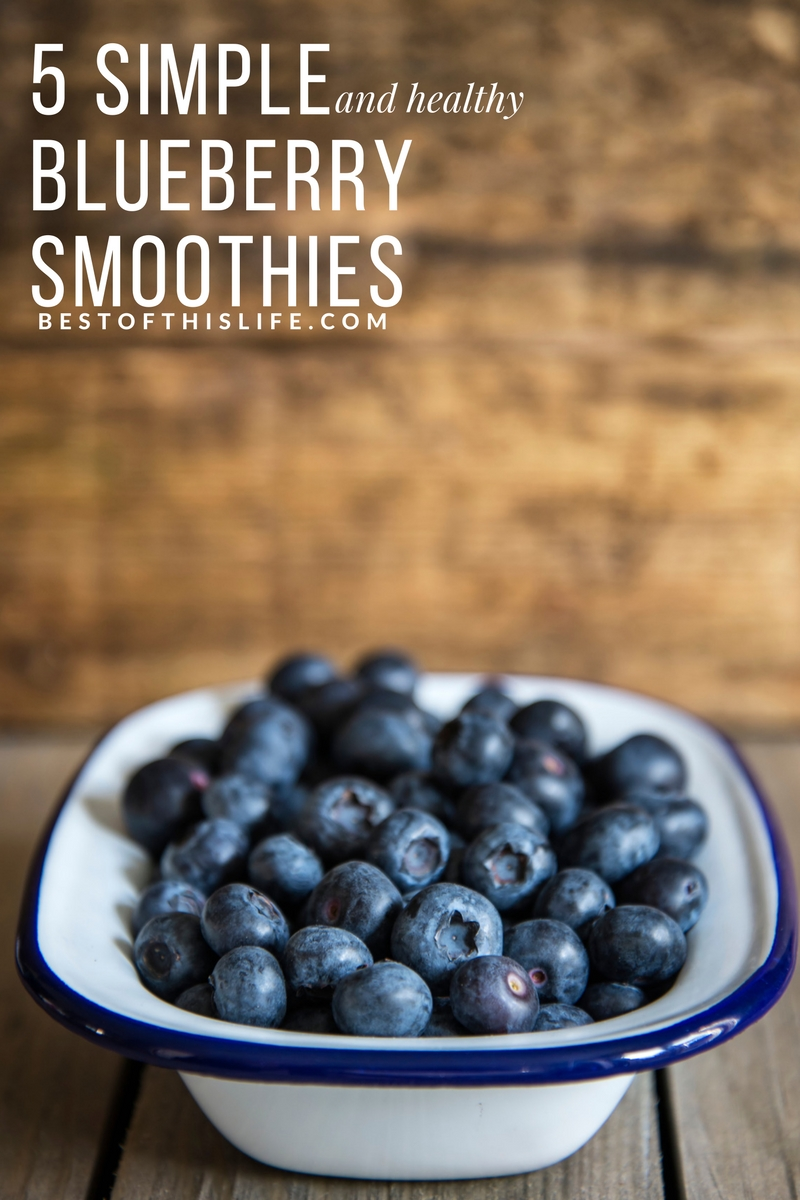 5 Simple & Healthy Blueberry Smoothie Recipes