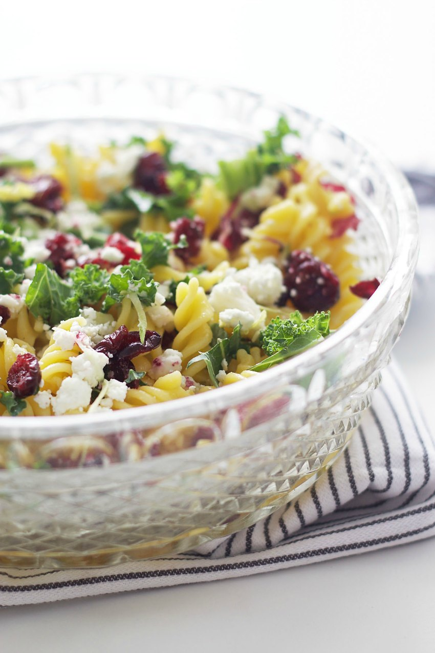 Springtime Pasta Salad with Radicchio + Goat's Cheese