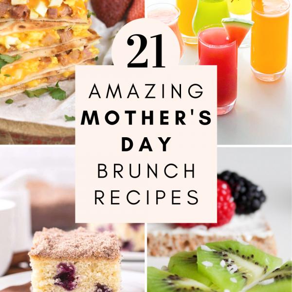 Mother's Day brunch recipes cake fruit drinks